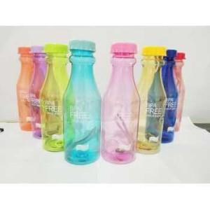 Botol Minum BPA FREE Bottle Bening 550 Ml - Botol Minum Sporty H-909