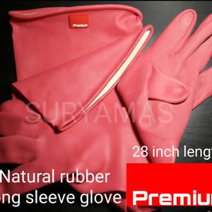 Sarung tangan karet panjang/sarung tangan sandblasting