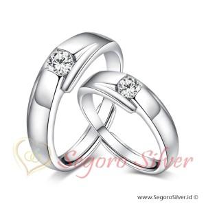 Cincin Perak Couple Tunangan Original Silver murni