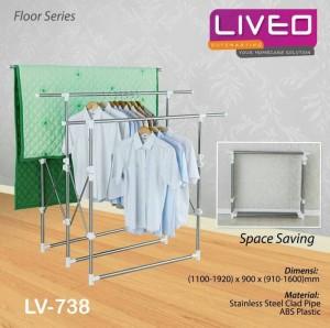 Liveo Gantungan Baju / Jemuran Baju Telescopic LV 738
