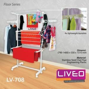 Liveo Gantungan Baju / Jemuran Baju Triple Decker LV 708