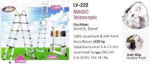 Liveo Tangga Telescopic Magic / Lipat (1,9 - 3,8 meter) LV 222