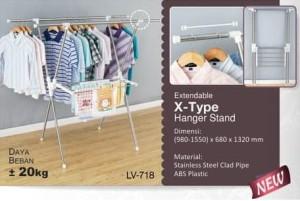 Liveo Gantungan Baju / Jemuran Baju Extendable LV 718