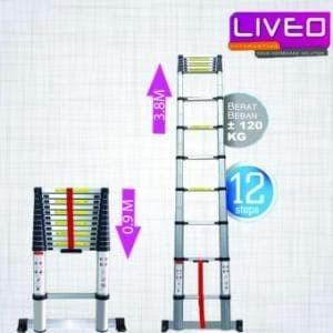 Liveo Tangga Telescopic Single 12 Step (3,8 meter) LV 202