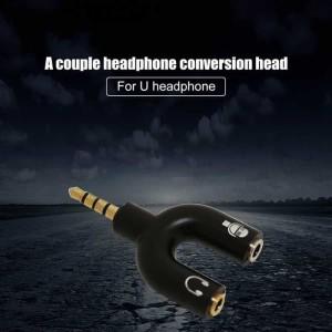 Audio Spliter Android Mic Headset universal tipe U