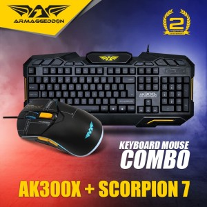 Keyboard Gaming Combo AK300x With Mouse Scorpion 7 (5 button RGB)