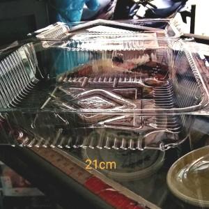 Plastik mika kotak ukuran 21cm