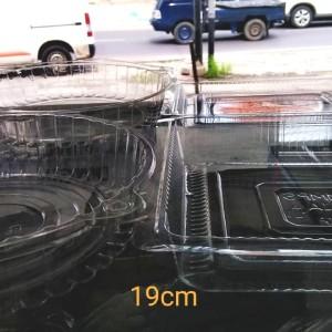 Plastik mika kotak/bulat 19cm