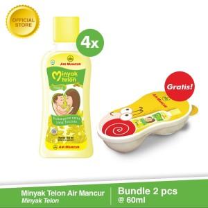 Minyak Telon Air Mancur 60 ml (4 pcs) Gratis 1 Baby Bowl Set [FS]