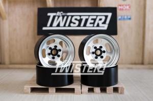 SSD Steel Slot Beadlock Wheels 1.9 4 pcs SILVER
