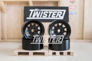 SSD Steel Stock Beadlock Wheels 1.9 4 pcs BLACK