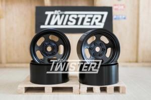 SSD Steel Slot Beadlock Wheels 1.9 4 pcs BLACK