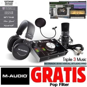 M-Audio M-Track 2x2 Vocal Studio Pro Paket recording M-audio Kumplit