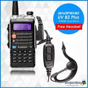 HT Baofeng  BF UVB2 Plus Dual Band 8W 128CH UHF VHF - BFUVB2 Plus