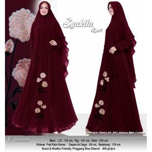 Baju Busana Muslim Wanita Gamis Syari Pesta Sykila Ceruty Terbaru