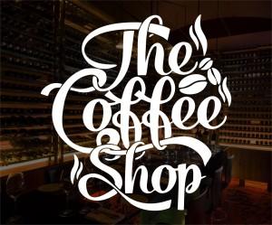 Gambar Kedai Kopi Hitam Putih Jual Stiker The Coffee Shop Dinding Kaca Cafe Warung Kopi Kantin
