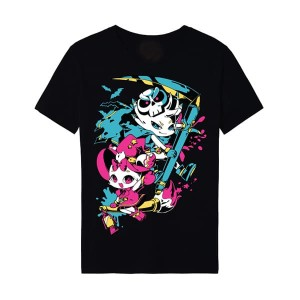 Kaos Mini ComicFest ID T-shirt Miko Komi Hitam
