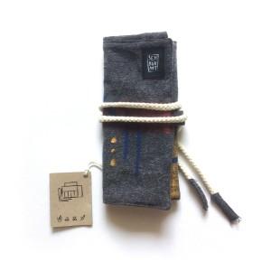 Pencil Roll - Tempat Pensil Gulung - Semburart - Dark Grey