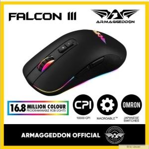 Armaggeddon Mouse Gaming Falcon III 10000 CPI - Garansi 2 Tahun