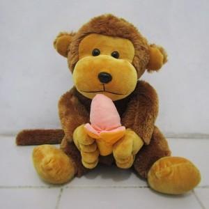 Gambar Monyet Bawa Pisang Jual Boneka Monyet Makan Pisang Xl Kota Bekasi Moth Shop