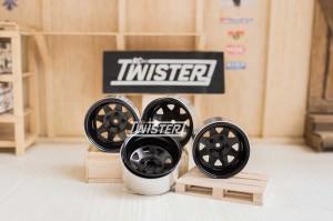 "RC4WD 5 Lug Deep Dish Wagon 1.9"" Steel Stamped Beadlock Wheels (BLACK)"