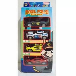Mainan Mobil Polisi Indonesia Mini Pull Back