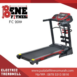 TREADMILL ELEKTRIK FC 2019 4 fungsi alat fitness lari olahraga fitnes