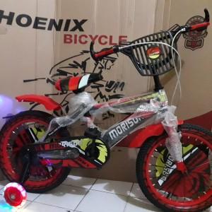 Jual Sepeda Anak Cowok BMX Morison Ukuran 16 Inci Lampu