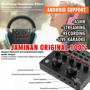 Android Sound Card Mixer Audio V8 Microphone Webcast Live ASMR