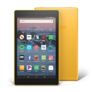 "AMAZON All-New Fire HD 8 Tablet, 8""16GB, yellow 2018-with ads"