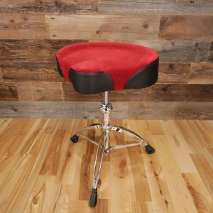 Mapex T765A Red-Cloth-Top Saddle Style Drum Throne