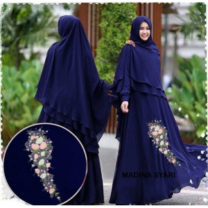 Baju Busana Muslim Wanita Gamis Syari Pesta Madina Ceruty Terbaru