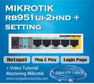 Paket Mikrotik RB951Ui-2HnD Hotspot Indoor Siap Pakai
