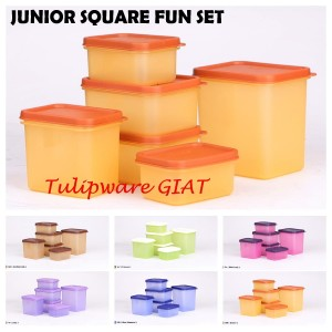 Set Toples Kue Lebaran / Wadah Susu / Junior Snack Set Tulipware