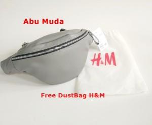 HM WAISTBAG / H&M WAIST BAG /TAS PINGGANG HNM KULIT UNISEX - Hitam