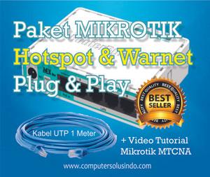 Paket Mikrotik RB750r2 Siap Pakai Untuk Warnet Dan Hotspot