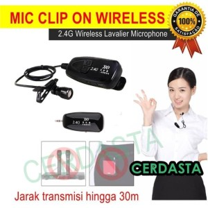 Mic Clip on Wireless 2.4G Microphone Lapel Rechargeable