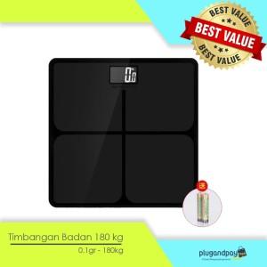 Timbangan Badan Digital Kaca Elektronik 180kg - Black