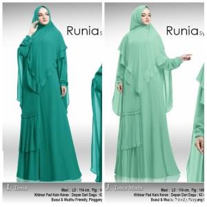 Baju Busana Muslim Wanita Gamis Syari Pesta Runia Ceruty Terbaru