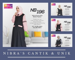 GAMIS NIBRAS BAHAN TOYOBO MODEL OVER ALL OUTER INNER MENYATU