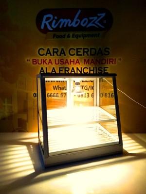Food warmer display etalase penghangat pemajang makanan (SMALL 2 rak)