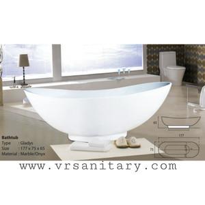 Bathtub Standing Gladys - free avur+kran Mixer dan Shower+Tissue box