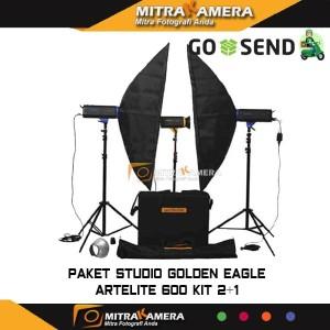 Paket Studio Golden Eagle Artelite 600 Kit 2+1