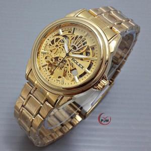 Jam Tangan Pria Rolex Ball Full Gold
