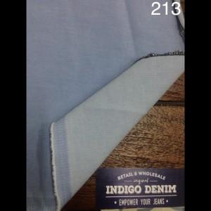 213 - Jual Bahan Jeans / Denim Light Blue Strech Washed Medium Weight