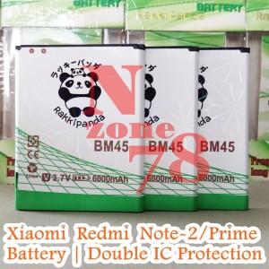 BATERAI XIAOMI REDMI NOTE 2 BM45 BM-45 RAKKIPANDA DOUBLE POWER