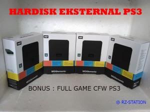 Hardisk Eksternal PS3 500GB Bonus Isi Full Game
