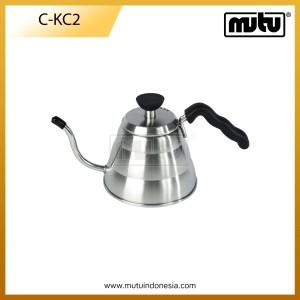 Ketel Kopi 1 Liter Stainless Steel Warna Perak - C-KC2
