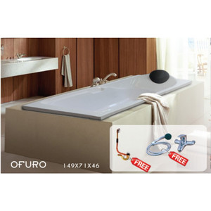 Bathtub Long OFURO + Avur + Kran