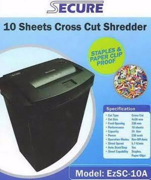 Mesin Penghancur Kertas SECURE EZSC 10 A/Paper Shredder